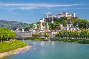 Historic city of Salzburg in summer, Austria