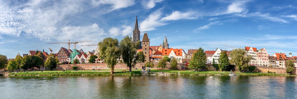 Ulm an der Donau, von Neu-Ulm aus